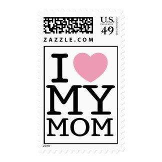 I Heart My Mom Postage Stamp