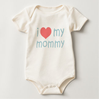 i heart my mommy baby bodysuit