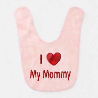 I Heart My Mommy Bib Bib