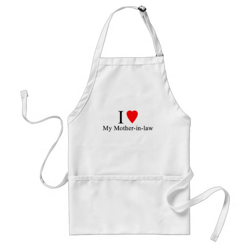 I Heart my mother in law Adult Apron