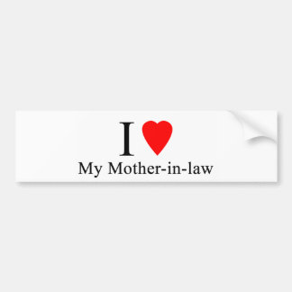 I heart my mother in law bumper sticker