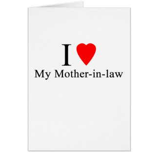 I Heart my mother in law Card