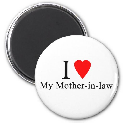 I Heart my mother in law Fridge Magnet