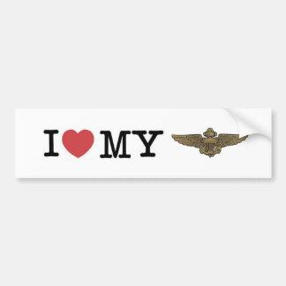 I heart my Naval Aviator Bumper Sticker