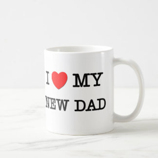 I Heart My NEW DAD Mugs