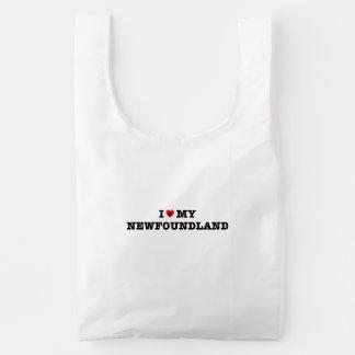 I Heart My Newfoundland Baggu Reusable Bag