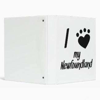 I Heart My Newfoundland Vinyl Binder
