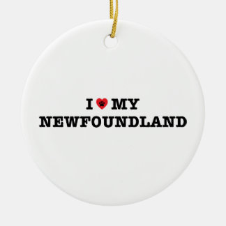 I Heart My Newfoundland Ceramic Ornament