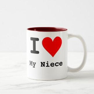 I Heart My Niece Two-Tone Coffee Mug