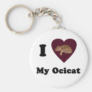 I Heart My Ocicat Keychain