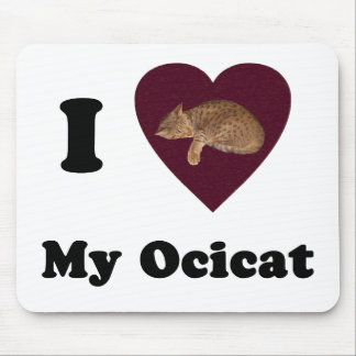 I Heart My Ocicat Mousepad