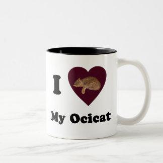 I Heart My Ocicat Mug
