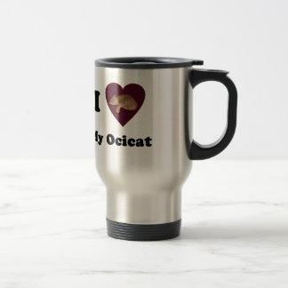 I Heart My Ocicat Travel Mug