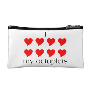 I Heart My Octuplets Cosmetic Bag
