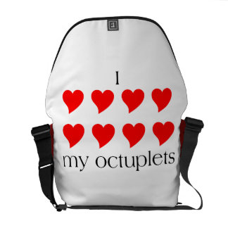 I Heart My Octuplets Courier Bag