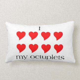 I Heart My Octuplets Lumbar Pillow