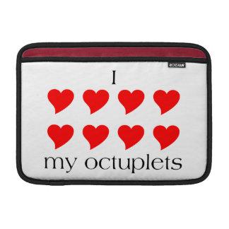 I Heart My Octuplets MacBook Air Sleeve