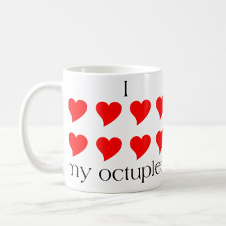 I Heart My Octuplets Classic White Coffee Mug