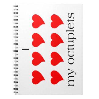 I Heart My Octuplets Notebook