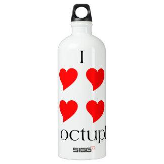 I Heart My Octuplets Water Bottle
