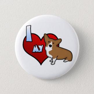 I Heart my Pembroke Welsh Corgi Button
