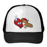 I Heart my Pembroke Welsh Corgi Hats