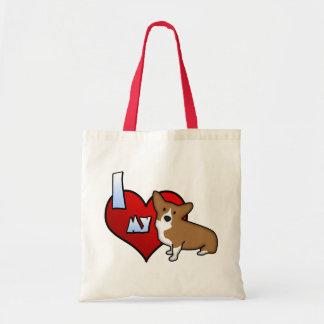 I Heart my Pembroke Welsh Corgi Tote Bag
