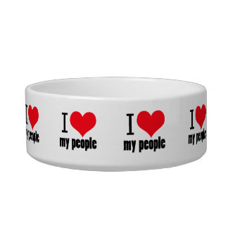 I heart my people design bowl