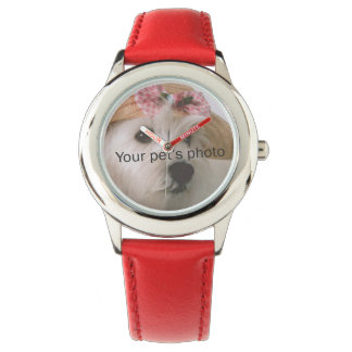 I Heart_My Pet Picture personalized Wrist Watches