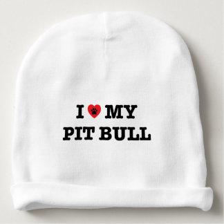 I Heart My Pit Bull Baby Beanie