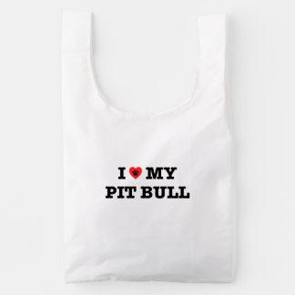 I Heart My Pit Bull Baggu Reusable Bag