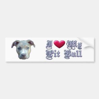 I Heart My Pit Bull Bumpersticker Bumper Stickers