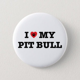 I Heart My Pit Bull Button