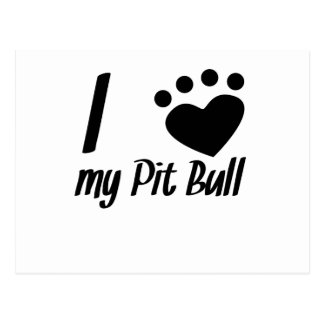 I Heart My Pit Bull Post Cards