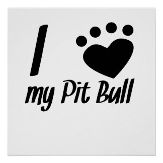 I Heart My Pit Bull Posters
