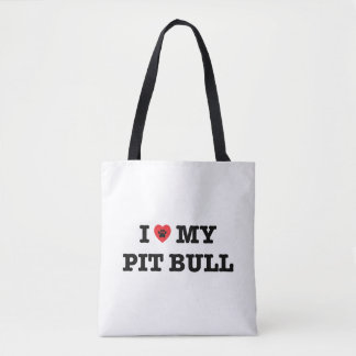 I Heart My Pit Bull Tote Bag