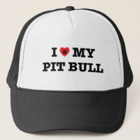 I Heart My Pit Bull Trucker Hat
