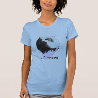 I (Heart) My Pit Ladies Petite Pale Blue T-Shirt