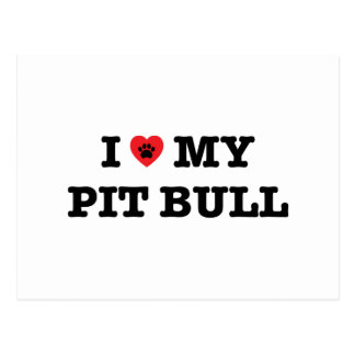 I Heart My Pitbull Postcard