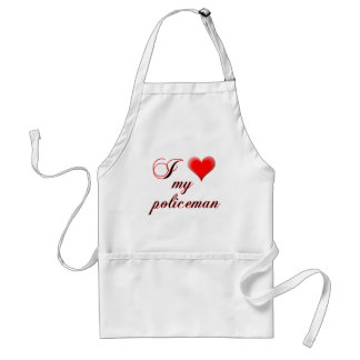 "I ""heart"" My Policeman Adult Apron"