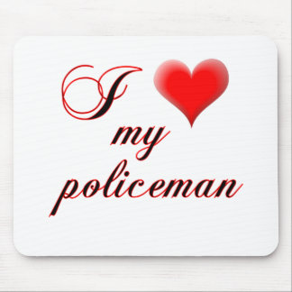 "I ""heart"" My Policeman Mouse Pad"