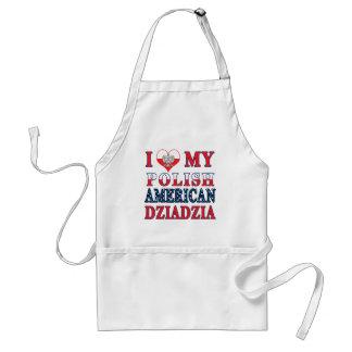 I Heart My Polish American Dziadzia Adult Apron