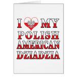 I Heart My Polish American Dziadzia Cards