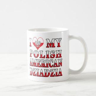 I Heart My Polish American Dziadzia Coffee Mugs