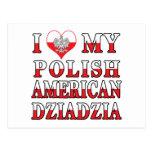 I Heart My Polish American Dziadzia Postcards