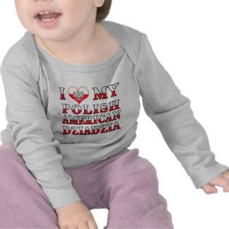 I Heart My Polish American Dziadzia T-shirt