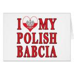I Heart My Polish Babcia Greeting Card