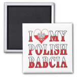 I Heart My Polish Babcia Magnet