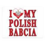 I Heart My Polish Babcia Postcard