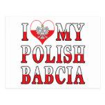 I Heart My Polish Babcia Postcards